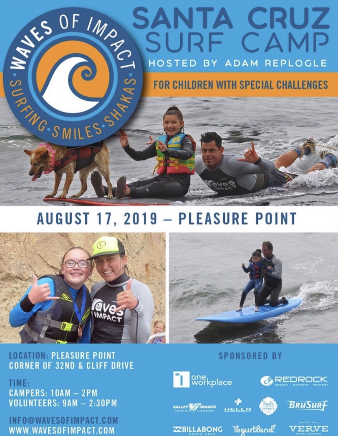 Surf Therapy This Weekend! w/Adam Replogle, featuring Skyler the Surf Dog!
